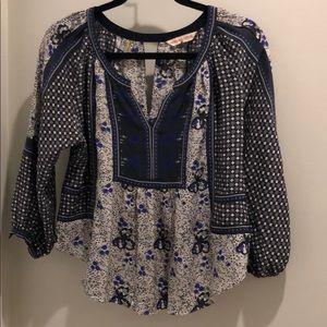 rebecca taylor floral boho print blouse / tunic